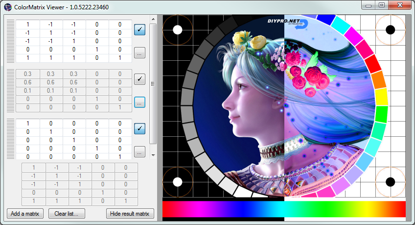 ColorMatrix Viewer